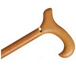 Men's Derby Handle Wood Cane - Natural Stain