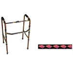 Designer Folding Walker -   Red Hat