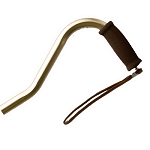 Offset Handle Aluminum Cane - Bronze