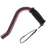 Offset Handle Aluminum Cane - Red Marble