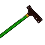 Straight Adjustable Cane - Green Marble