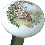 Ceramic Edwardian Garden Proposal Walking Stick