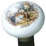 Ceramic Edwardian Garden Romance Walking Stick