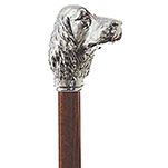 Silver Cocker Spaniel Walking Stick