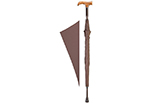 Derby Cane Umbrella - Brown