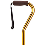 Offset Adjustable Cane - Gold