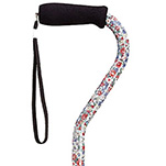 Fashion Aluminum Offset Cane - Wildflowers