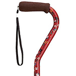 Fashion Aluminum Offset Cane - Fuchsia