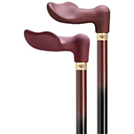 Raspberry Soft Touch Palm Grip Cane