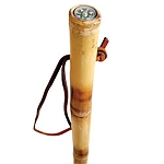 Bamboo Hiking Staff With Compass