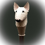 Bull Terrier Walking Stick