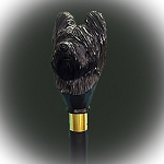 Briard Walking Stick