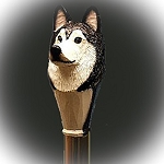 Alaskan Malamute Walking  Stick
