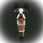 Boston Terrier Walking Stick