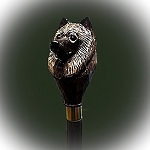 Keeshond Walking Stick