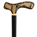 Chocolate Pearl Acrylic Fritz Walking Stick