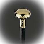 Polished Round Smooth Brass Door Knob Cane