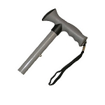 Travel Folding Cane With Comfy Grip Handle - Grey