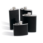Black Bison Leather Flask