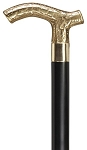 Ladies Embossed Brass Derby Cane - Black