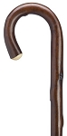 Imported Natural Chestnut Crook Walking Stick - Walnut