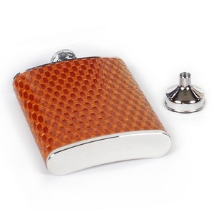 Leather Basket Weave Flask