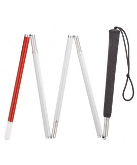 Visually Impaired Six Section Folding Cane - 54""