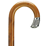 Silver Nose Cap Crook Walking Stick