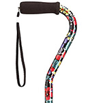Fashion Aluminum Offset Cane - Night Flowers