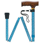 Simply Solid Folding Adjustable Cane - Blue
