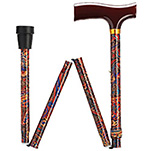 Fashionable Folding Imprints Cane - Paisley