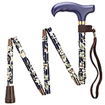 Mini Folding Adjustable Cane - Dogwood