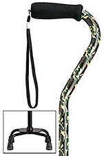 Fashion Print  Small Base Quad Cane - Camouflage