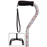 Fashion Large Base Quad Cane - Wildflower