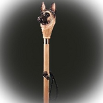 German Shepherd Hiking Stick