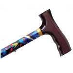 Adjustable Travel Folding Cane - Abstract