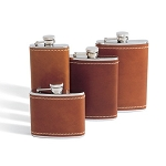 Tan Bison Stainless Steel Flask