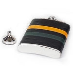 Ostrich Pattern Leather Wrap Flask