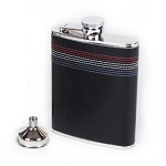 Stitched Red, White & Blue Leather Flask