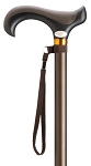 Overmold Derby Aluminum Adjustable Cane - Brown